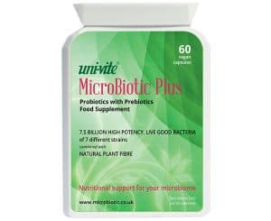 MicroBiotic Plus contains 7 different strains of PRObiotic bacteria