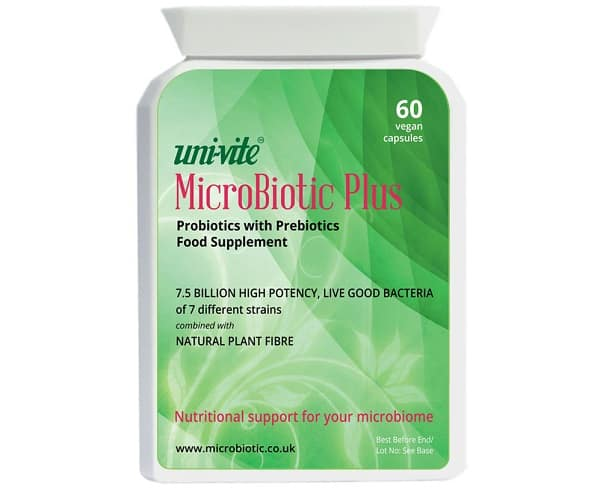 MicroBiotic Plus contains 7 different strains of PRObiotic bacteria
