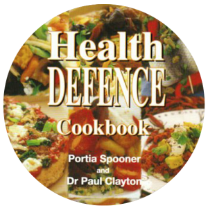 HEALTH DEFENCE COOKBOOK by SPONNER & DR CLAYTON