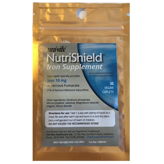 NutriShield Iron 30 x 10mg