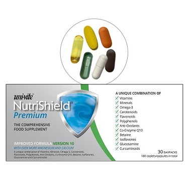 Uni-vite healthcare supplements - NutriShiled Premium for over 50s